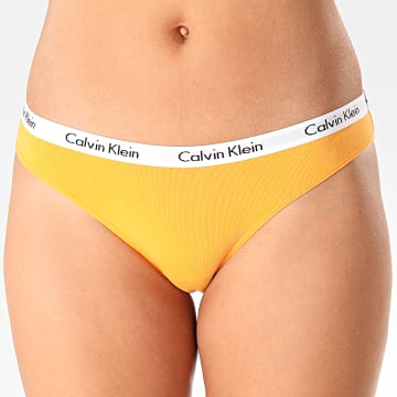 Culotte Femme Bikini 0000D1618E Orange Blanc
