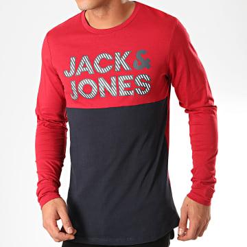 Tee Shirt Manches Longues Miller Rouge Bleu Marine