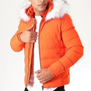 John H - Doudoune Fourrure 6607B Orange