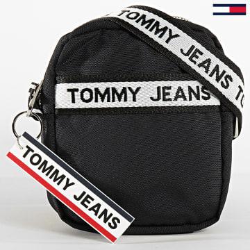 Tommy Jeans - Sacoche Logo Tape Reporter Nylon 6026 Noir