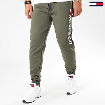 Pantalon Jogging Fleece Logo 0189 Vert Kaki