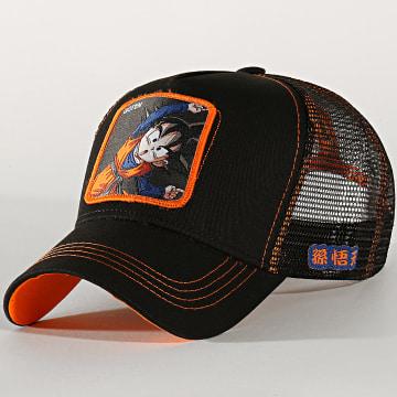 Casquette Trucker Goten Noir Orange