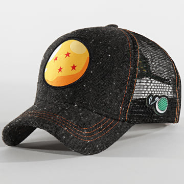 Capslab - Casquette Trucker Dragon Ball Noir Chiné