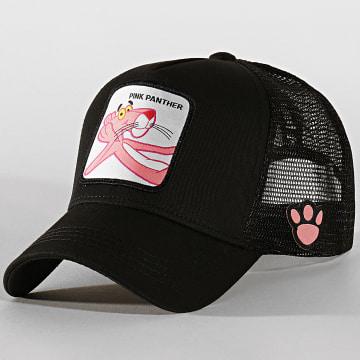 Capslab - Casquette Trucker Pink Panther Noir