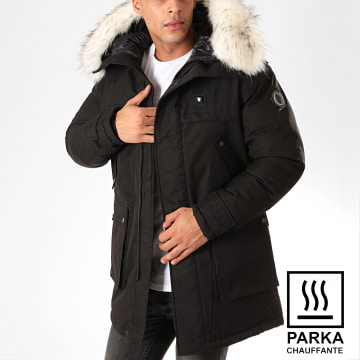 Parka Fourrure Chauffante Antartic Noir