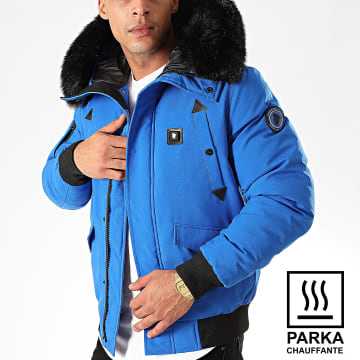 Parka Chauffante Fourrure Chicago Bleu Roi