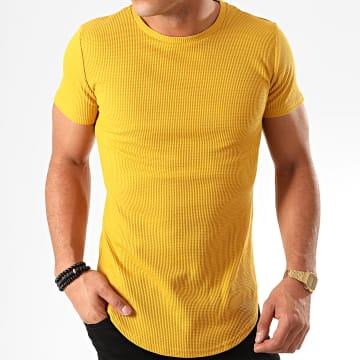 Tee Shirt Oversize A091 Jaune Moutarde