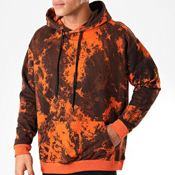 John H - Sweat Capuche WY2019003 Orange Marron
