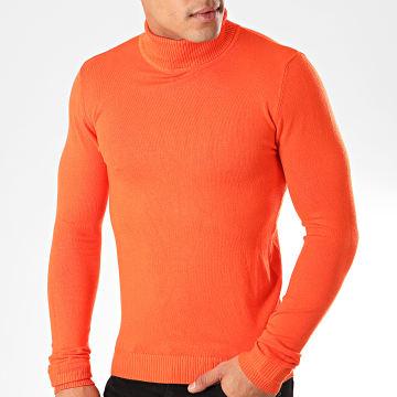 John H - Pull Col Roulé ZW001 Orange