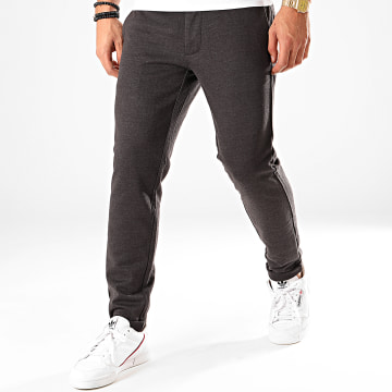 Only And Sons - Pantalon Chino Mark Herringbone Gris Anthracite