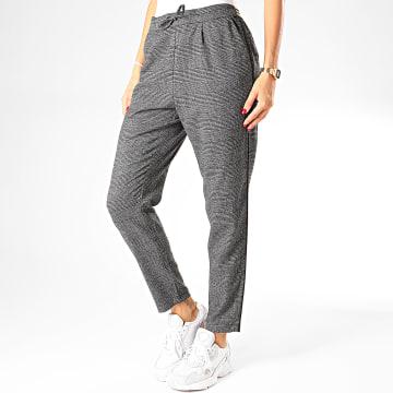 Pantalon A Carreaux Femme Poptrash Gris Chiné