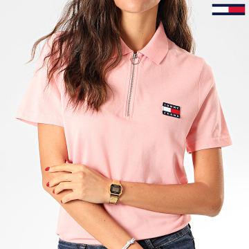 Polo Femme Manches Courtes Badge 7642 Rose