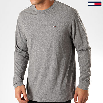 Tommy Jeans - Tee Shirt Manches Longues Classics 6959 Gris Chiné