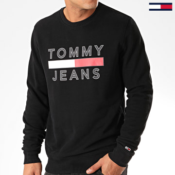 Sweat Crewneck Essential Graphic 7413 Noir