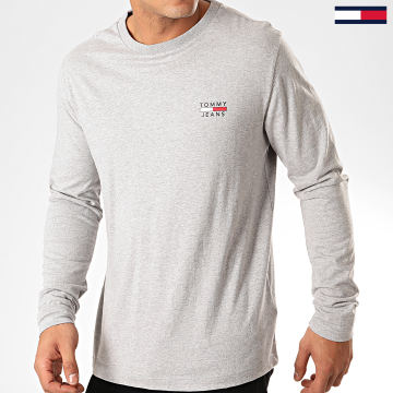 Tee Shirt Manches Longues Chest Logo 7617 Gris Chiné