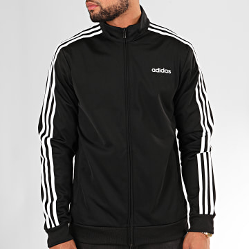 Adidas Originals - Veste Zippée A Bandes Essentials DQ3070 Noir Blanc