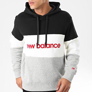 New Balance - Sweat Capuche 742240 Noir Ecru Gris Chiné