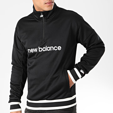 New Balance - Sweat Col Zippé 742270 Noir