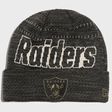 New Era - Bonnet Engineered Fit Cuff 12134781 Oakland Raiders Vert Kaki Chiné