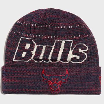 Bonnet Engineered Fit Cuff 12134786 Chicago Bulls Rose Bleu Marine Chiné