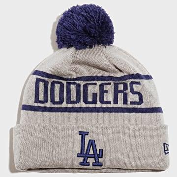 Bonnet OTC Bobble Knit 12134850 Los Angeles Dodgers Gris Bleu Roi