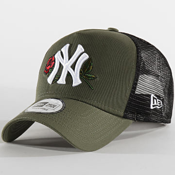 Casquette Trucker Twine MLB 12134871 New York Yankees Noir Vert Kaki