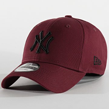 New Era - Casquette Baseball 9Forty League Essential New York Yankees 12134894 Bordeaux Noir