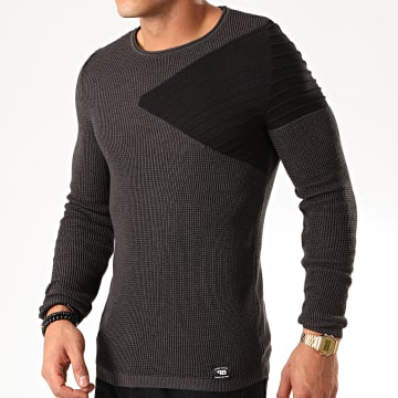 Paname Brothers - Pull PNM-002 Gris Anthracite