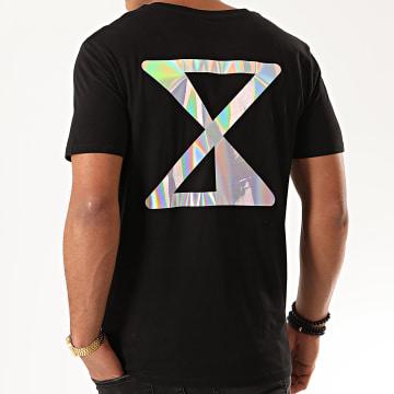 Tee Shirt Logo Iridescent Recto Verso Noir