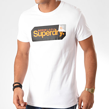 Superdry - Tee Shirt Core Logo Tag M1000072A Blanc