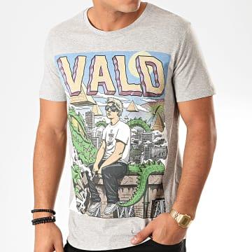 Vald - Tee Shirt Monde Cruel Gris Chiné