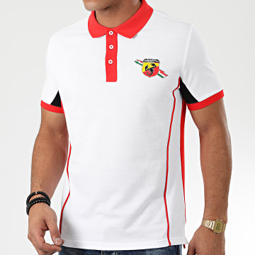 F1 et Motorsport - Polo Manches Courtes Replica Race Abarth Corse ABPS02 Blanc