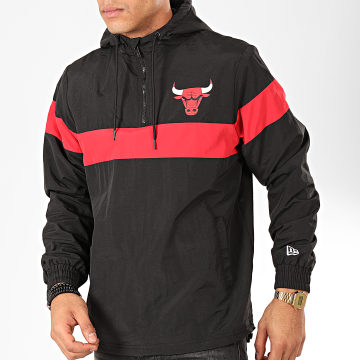 Coupe-Vent NBA Chicago Bulls Noir Rouge