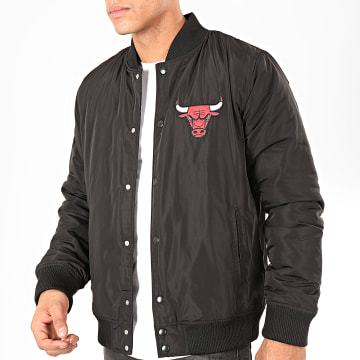 Veste Bomber NBA Team Logo Chicago Bulls Noir Rouge