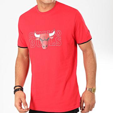 Tee Shirt NBA Graphic Chicago Bulls Rouge