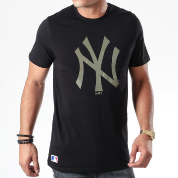 Tee Shirt MLB Seasonal Team Logo New York Yankees 12123934 Noir
