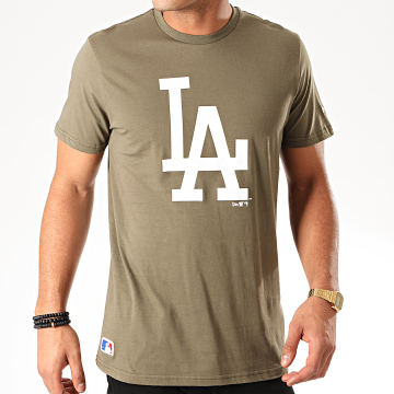New Era - Tee Shirt MLB Seasonal Team Logo Los Angeles Dodgers 12123936 Vert Kaki