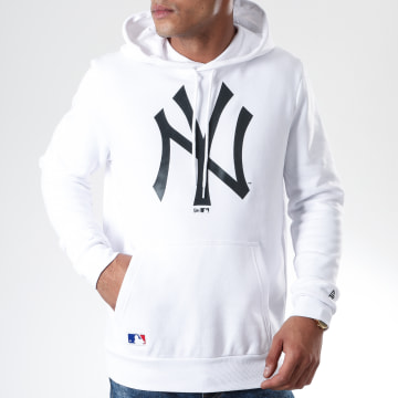 Sweat Capuche MLB Seasonal Team Logo New York Yankees 12123939 Blanc