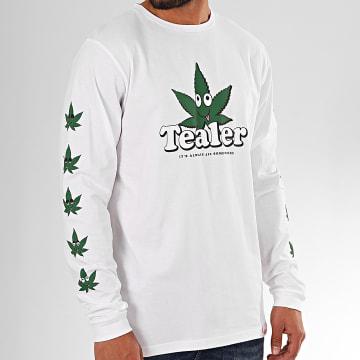 Tealer - Tee Shirt Manches Longues 420 Blanc Vert