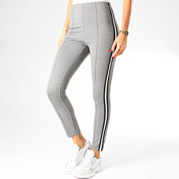 Legging Femme A Bandes Clearly 2 Gris Chiné