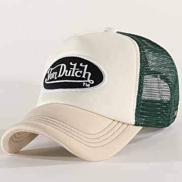 Von Dutch - Casquette Trucker Foam Beige Vert