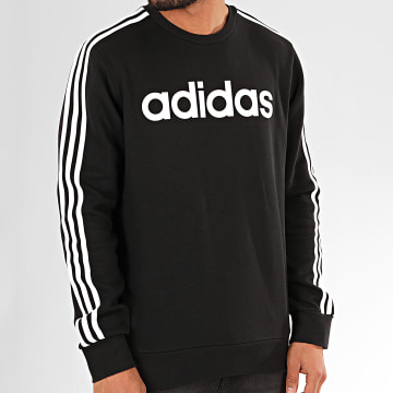 Adidas Originals - Sweat Crewneck A Bandes Essential DQ3084 Noir Blanc