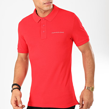 Polo Manches Courtes Stretch Institutional 4538 Rouge