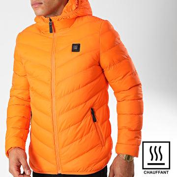 John H - Doudoune Chauffante A Capuche 6614 Orange