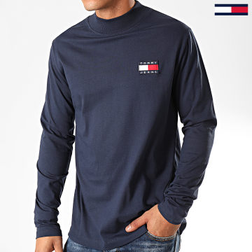 Tee Shirt Manches Longues Mock Neck 7476 Bleu Marine