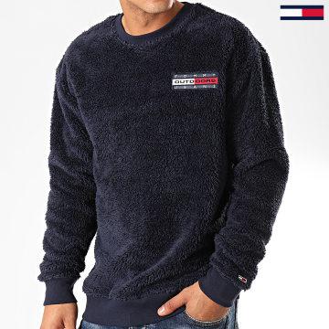 Sweat Crewneck Fourrure Plush Fleece 7395 Bleu Marine