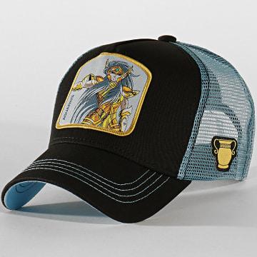 Casquette Trucker Aquarius Noir Bleu Clair