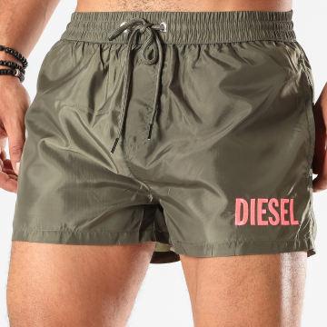 Diesel - Short De Bain BMBX Sandy 2 017 Vert Kaki Rose Fluo
