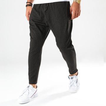 Ikao - Pantalon A Rayures F687 Noir
