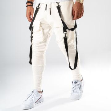 Pantalon Jogging F699 Blanc Cassé